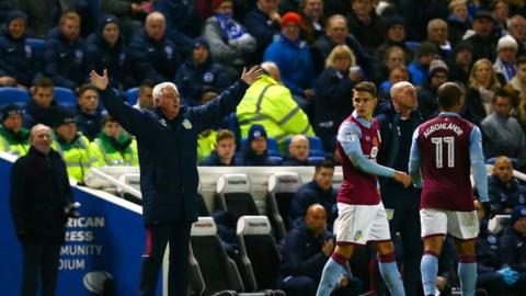 Aston Villa have won three and drawn three of Steve Bruce's six matches in charge
