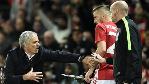 Jose Mourinho (left) and Morgan Schneiderlin