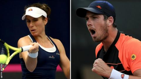 British duo Johanna Konta (left) and Cameron Norrie