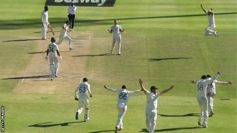England players celebrate winning the second Test against South Africa in Cape Town