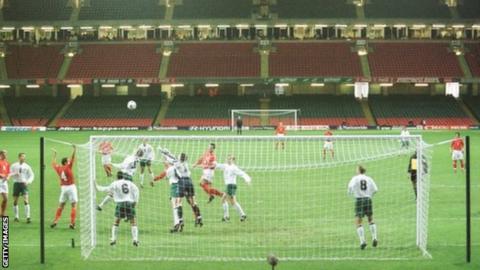 Wales v Belarus match action 2001