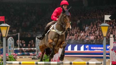 Sir AP McCoy in action at the Olympia Horse Show