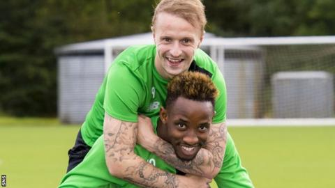 Leigh Griffiths (top) and Moussa Dembele