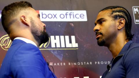 Tony Bellew (left) and David Haye
