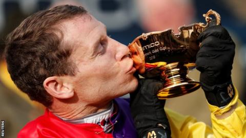 Richard Johnson's sole previous Gold Cup success was on Looks Like Trouble in 2000