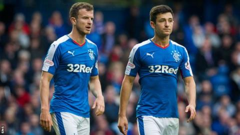 Rangers midfielders Andy Halliday and Jason Holt