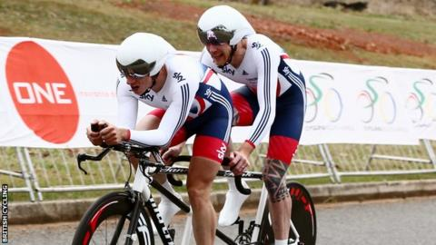 Tandem pair Adam Duggleby and Steve Bate