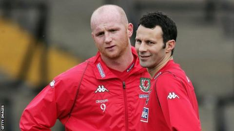 John Hartson and Ryan Giggs were Wales' attacking mainstays during John Toshack's reign as manager from 2004