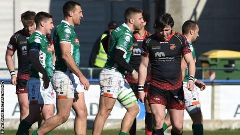 Rhodri Williams disappointed after Benetton try