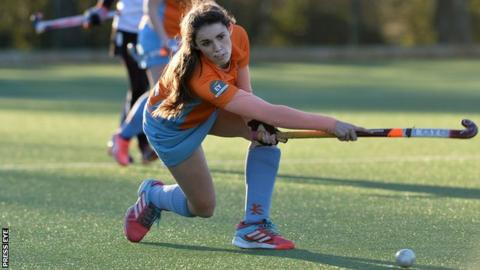 Alana Doyle in action for Ards against Cork Harlequins at Portaferry Road