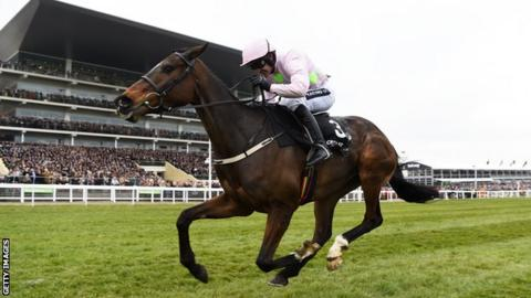 Ruby Walsh riding Douvan to victory in the Arkle Challenge Trophy at Cheltenham in 2016