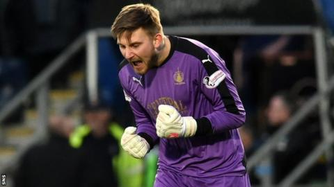 Falkirk goalkeeper Danny Rogers