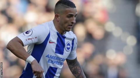 Anthony Knockaert in action for Brighton