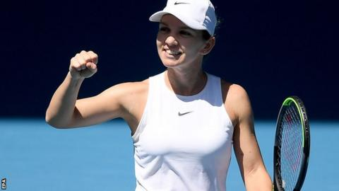 Australian Open: Simona Halep and Garbine Muguruza reach semi-finals