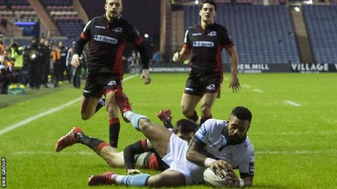 Glasgow's Junior Bulumakau was gifted an early try at Murrayfield