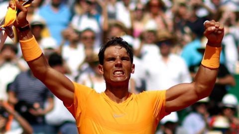 Rafael Nadal beats Grigor Dimitrov in Monte Carlo