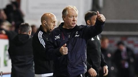 Rangers interim boss Jimmy Nicholl
