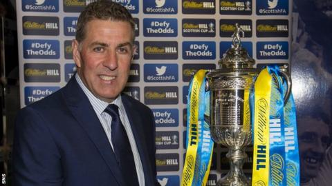 Scotland assistant coach Mark McGhee took part in the Scottish Cup first-round draw