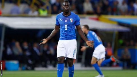 Mario Balotelli playing for Italy