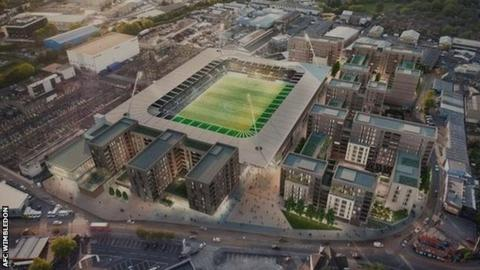 AFC Wimbledon's plans for redeveloping Wimbledon greyhound stadium on Plough Lane