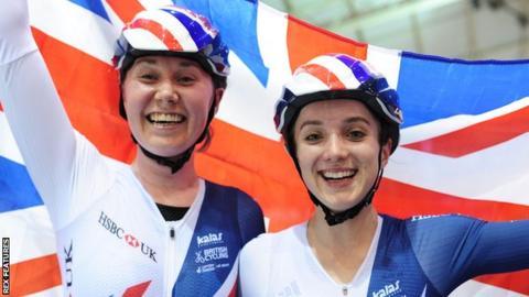 Katie Archibald (left) and Elinor Barker