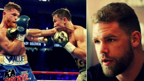 Saunders (right) says he can afford no mistakes if he is to face either Saul 'Canelo' Alvarez (left) or Gennady Golovkin (centre)