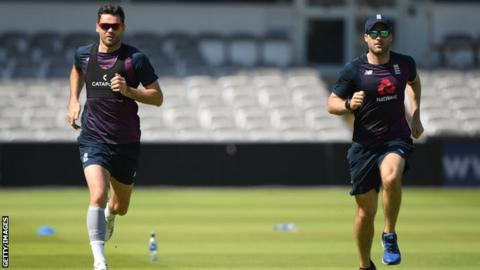 England's James Anderson to train with Manchester City for calf injury recovery