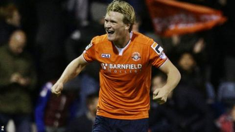 Luton midfielder Cameron McGeehan