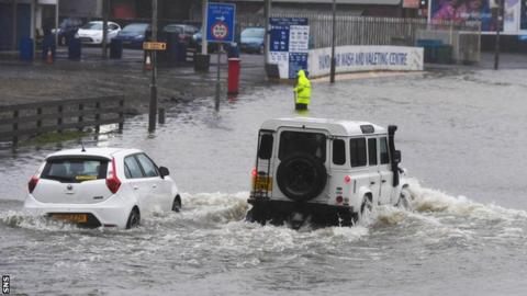 Paisley has been badly hit by flooding