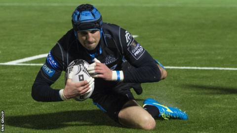Peter Murchie scored two tries for Glasgow on Saturday