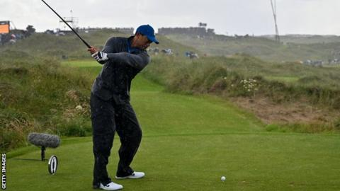 Tiger Woods at The Open