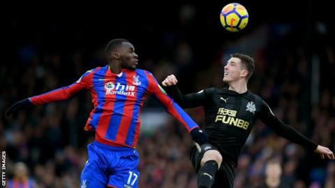 Christian Benteke and Ciaran Clark