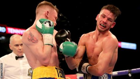 Referee Victor Loughlin stopped the contest in the fifth round