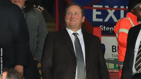 Mike Ashley: Newcastle owner's presence at matches a 'positive' says Rafa Benitez