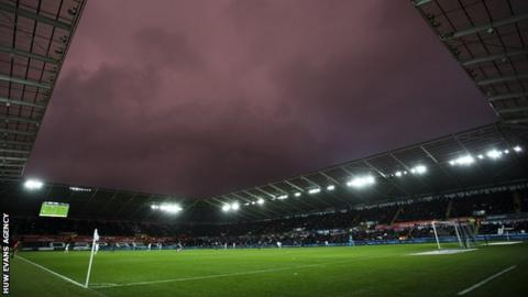 Stormy sky over Liberty Stadium