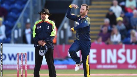 Colin Ingram bowls right arm leg spin as well as being one of Glamorgan's senior batsmen