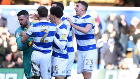 QPR celebrate Liam Kelly's penalty save
