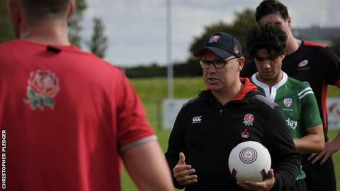 John Fletcher address his England U18 players