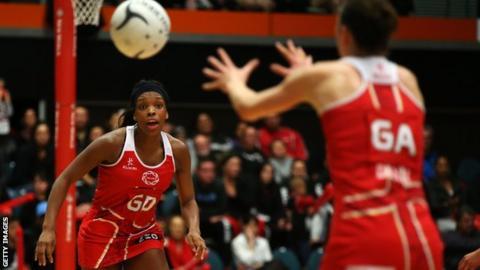 England netball player Eboni Beckford-Chambers