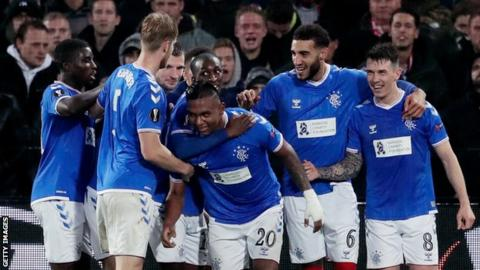 positive news Alfredo Morelos celebrates
