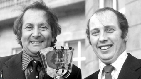 Norman Gifford and fellow England Test player Basil D'Oliveira (left) played key roles in Worcestershire 1974 County Championship success