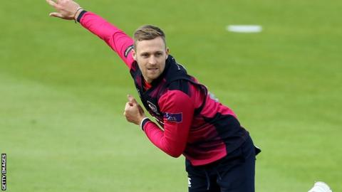 Graeme White in action for Northamptonshire