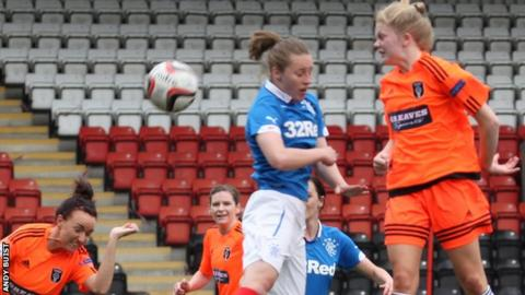 Brogan Hay, 15, made her Glasgow City debut in the win against Rangers