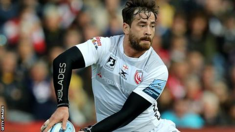 Danny Cipriani sends out a pass for Gloucester against Worcester last month