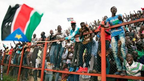 South Sudanese football fans