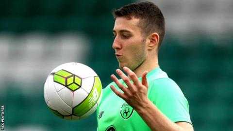 Shaun Donnellan warming up on international duty