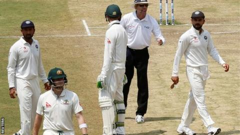Tension mounts in the India-Australia Test