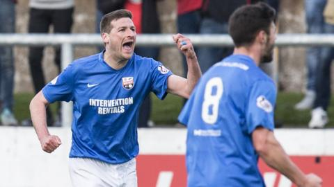 Montrose won again to stay three points clear at the top