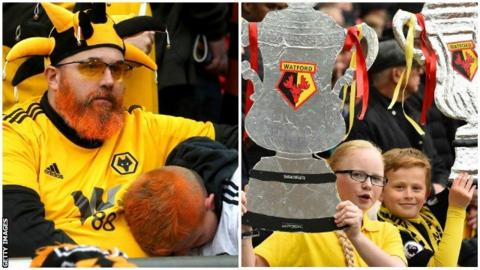 Watford and Wolves fans