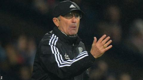 West Bromwich Albion head coach Tony Pulis